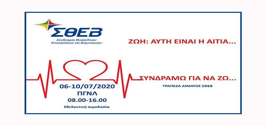 Εθελοντική αιμοδοσία για την ενίσχυση της τράπεζας αίματος ΣΘΕΒ article cover image