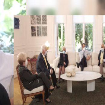 Συνάντηση Κυριάκου Μητσοτάκη με πολίτες που έχουν εμβολιαστεί για την Covid-19 (ΒΙΝΤΕΟ) cover image