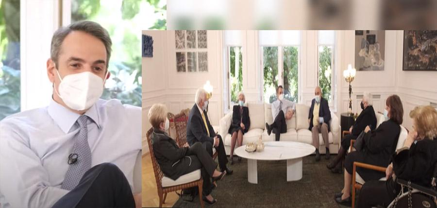 Συνάντηση Κυριάκου Μητσοτάκη με πολίτες που έχουν εμβολιαστεί για την Covid-19 (ΒΙΝΤΕΟ) article cover image