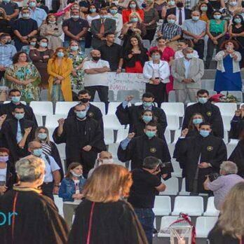 Πανεπιστήμιο Θεσσαλίας: Υπό έντονη βροχόπτωση πραγματοποιήθηκαν οι ορκωμοσίες φοιτητών cover image