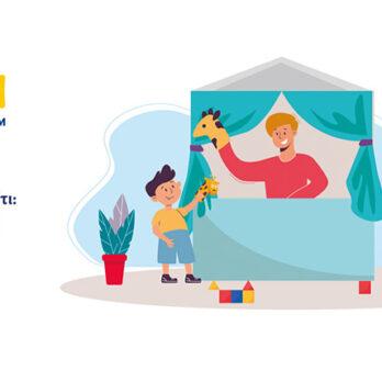 WEBINAR: Θεατρικό παιχνίδι και κουκλοθέατρο στο σπίτι: Έκφραση & Αποδοχή cover image